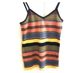 Top shop striped knit tank top